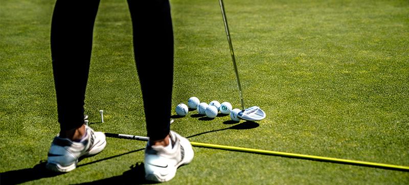 Beginners golf at Gatton Manor, Surrey