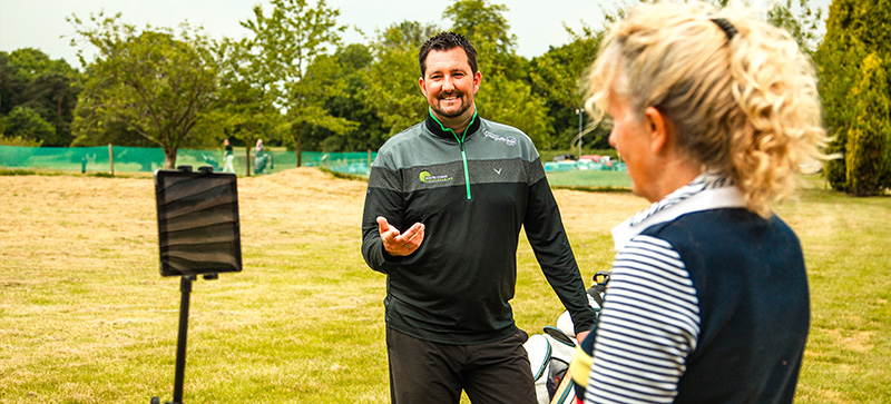 Video swing analysis at lessons Gatton Manor, Surrey, Sussex golf lessons