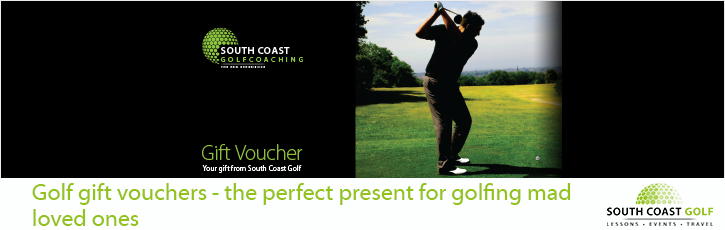 Golf gift vouchers - the perfect present for golfing made loved ones'